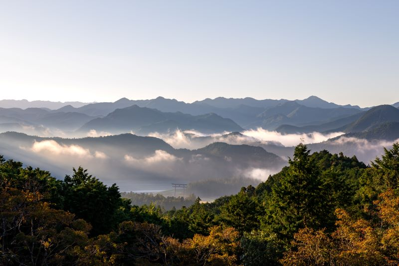 View from Miharadai, Kumano Kodo pilgrimage walk