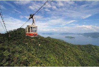 The Mount Misen ropeway